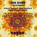IAN DURY & THE BLOCKHEADS- Live San Francisco - CD Vogon Rock