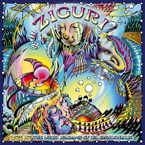 ZIGURI - Live At The Lucid Dreams Of Dr. Sardonicus - LP blue Sunhair Psychedelic